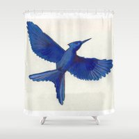 mockingjay Shower Curtains featuring Mockingjay Mockingjay by Blanca MonQnill Sole