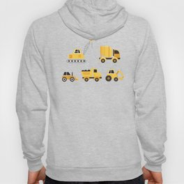 Construction Trucks on Gray Hoody