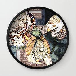 Man Ray Insect Volcano Wall Clock