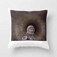 interstellar Throw Pillows featuring INTERSTELLAR by zinakorotkova
