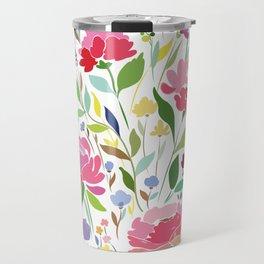 Rock in Flowers Travel Mug