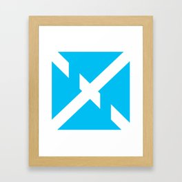 Chopped X Framed Art Print