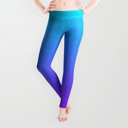 Blue and Purple Ombre Leggings