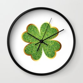Guys! Have This St. Patrick's Four-Cleaf Clover Tee Saying T-shirt Design Irish Celebrate Party Wall Clock