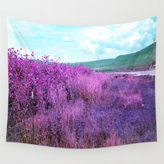 Wild Sunflowers by the Road Wall Tapestry