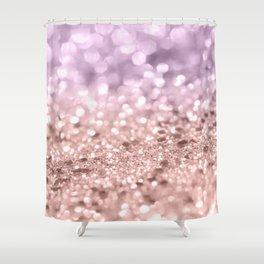 Rose Gold Blush Purple MERMAID Girls Glitter #1 #shiny #decor #art #society6 Shower Curtain