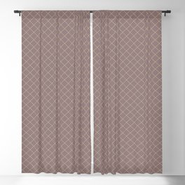 Earthy Green on Grape Vine Purple Parable to 2020 Color of the Year Back to Nature Angled Grid Blackout Curtain