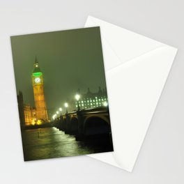 big ben night Stationery Cards