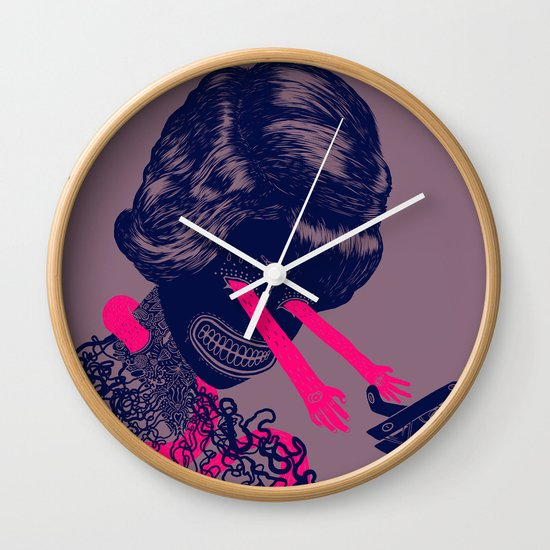 look into my beautiful eyes Wall Clock