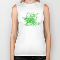 yoda Biker Tanks featuring Yoda by DanielBergerDesign