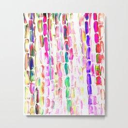 Spring Colorful Sugarcane Metal Print