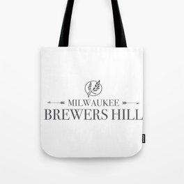 Brewers Hill Wordmark Black Tote Bag