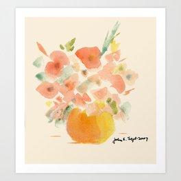 Gorgeous Poppies by artist John E. Art Print