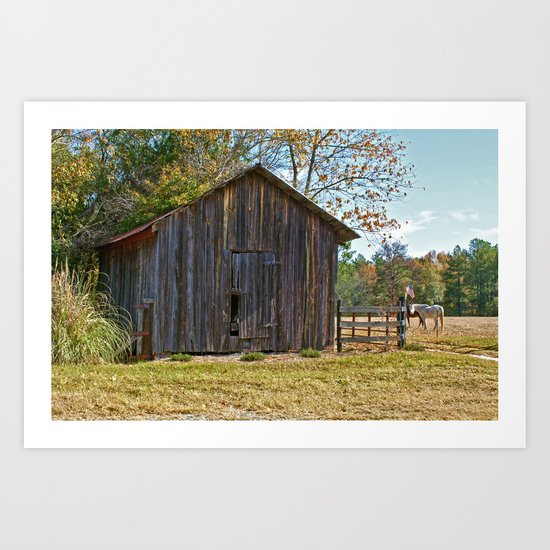 Fall Barn Art Print