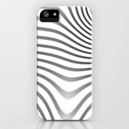 Organic Abstract 02 WHITE iPhone Case