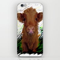 cow iPhone & iPod Skins featuring cow by Vector Art