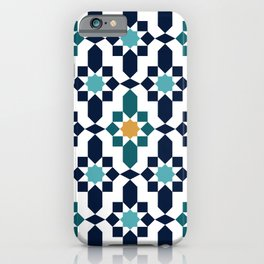 Moroccan style pattern iPhone Case