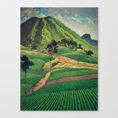 Crossing people's land in Iksey Canvas Print