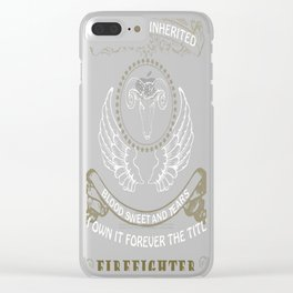 Can not be inherited firefighter Clear iPhone Case