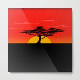 African Sunset Metal Print