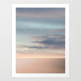 Sea & Sky scape abstract Art Print
