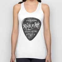 rock and roll Tank Tops featuring Rock And Roll by ZenthDesigns