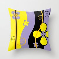 blossom Throw Pillows featuring Blossom by Graphic Tabby
