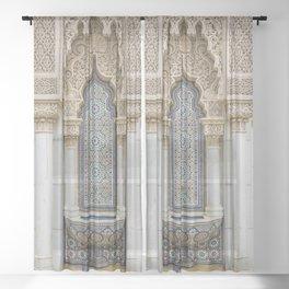 Moroccan Fountain Sheer Curtain