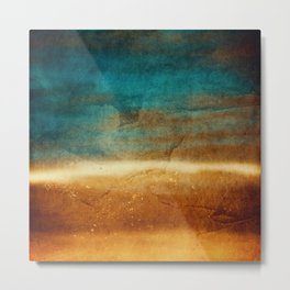 Abstract Landscape: the desert at sunset Metal Print