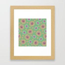 Kantha floral 8 Framed Art Print