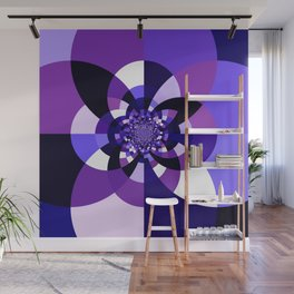 Purple Kaleidoscope Mandala Wall Mural