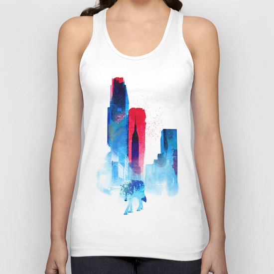 The wolf of the City Unisex Tank Top