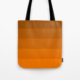 Orange Brown Stripes Tote Bag