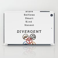 divergent iPad Cases featuring DIVERGENT - ALL FACTIONS by MarcoMellark