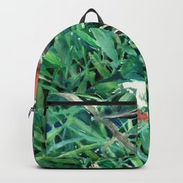 Green Kingfishers and Green Grass Backpack
