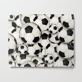 Dirty Balls - footballs Metal Print
