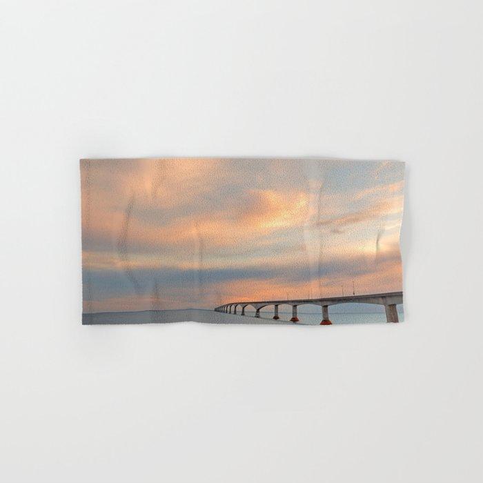 Sunset Sky Bridge Hand & Bath Towel