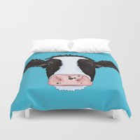 cow Duvet Covers featuring Cow by Compassion Collective