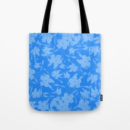 Forget-Me-Not Flowers in Blue Tote Bag