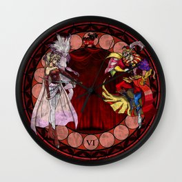 Final Fantasy VI Stained Glass Drawing  Wall Clock