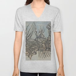 The Ice Fishers and Their Secret Unisex V-Neck