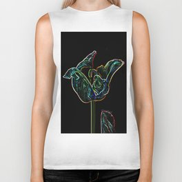 Pop Art Digital Photo Tulip jjhelene design Biker Tank