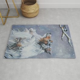 SHELTIE Shetland Sheepdog dog art from an original painting by L.A.Shepard Rug