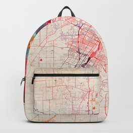 Green Bay map Wisconsin painting Backpack
