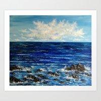 Ocean scenery Art Print