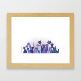 Vector Cats 2016 edition v4 Framed Art Print