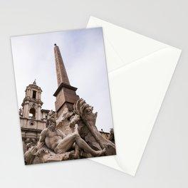 Fontana dei quattro fiumi - Ganges Stationery Cards