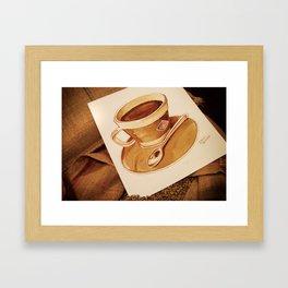 Cup of Coffee - Coffee Art Framed Art Print