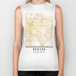 DENVER COLORADO CITY STREET MAP ART Biker Tank