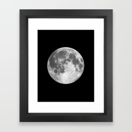 Full Moon print black-white photograph new lunar eclipse poster bedroom home wall decor Framed Art Print